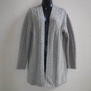 J Jill Open Front Cable Knit Cardigan Sweater